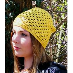Beanie Mütze Sommer Damen Gelb
