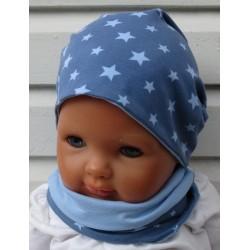Jungen Schal Halssocke Jersey mit Sternen genäht. Angebot beinhaltet einen Loop für Kids. KU 39 - 55 cm und Variante nach Wunsch