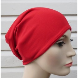 Beanie Mütze Damen Rot aus Jersey zum Wenden genäht. Einfach toll. Viele Farben. 54-62