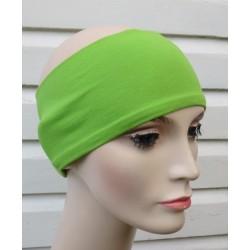 Stirnband Sport in Grün aus Jersey genäht. Auch mit Mittelteil. Farbe, KU 54-62 cm