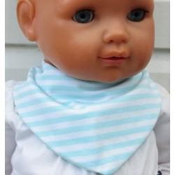 Dreieckstuch Mädchen Mint Weiß gestreift genäht. So süss. Größe 0-8 Jahre nach Wunsch