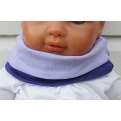 Halssocke Kinder Schlupfschal Mädchen Flieder Lila aus Jersey genäht. Farben, Variante, KU 39-55