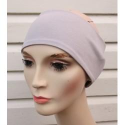 Haarband Damen Sport Sommer Grau aus Jersey zum Wenden genäht. Viele Farben, KU 54-62 cm