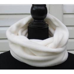 Fleece Schal Damen Beige Creme kuschelig als Loop genäht. Zum Wenden. Viele Farben.