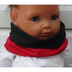 Schlupfschal Kinder für Mädchen Rot und Schwarz aus Jersey genäht. Zum Wenden. Farbe, KU 39-55 nach Wunsch