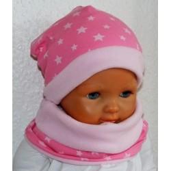 Mütze Schal Set Kinder Fleece