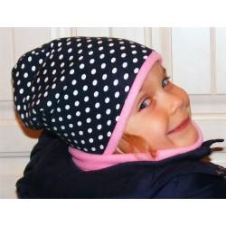 Mütze Schal Set Kinder Punkte