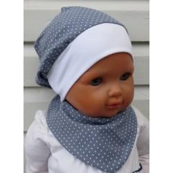 Sommermütze Kinder Baby Mädchen Set mit Dreieckstuch aus Jersey genäht. Farbe, KU 39-55 nach Wunsch