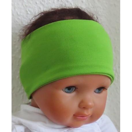 Stirnband Kinder Junge in tollem Grün aus Jersey genäht. Partnerlook im Shop. Farbe, KU 36-55 nach Wunsch