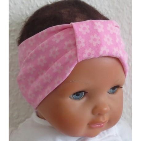 Haarband Blume Baby zauberhaft für Mädchen in Rosa genäht. Süss für den Sommer. Farbe, KU 36-55 cm