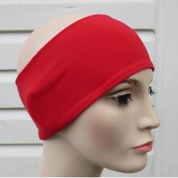 Stirnband Sommer Rot Damen Partnerlook aus Jersey genäht. Auch mit Mittelteil. Handarbeit. Farbe, KU 54-62 cm