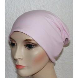 Jersey Mütze Beanie Damen Rosa und Grau zum Wenden genäht. Wunderbar. Als Long. Farben, KU 54-62 nach Wunsch