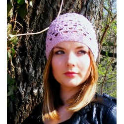 Damen Mütze Sommer Rose