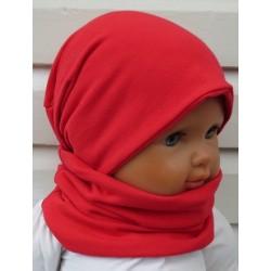 Schlupfschal Kinder Baby Jersey Mädchen in Wunschfarbe genäht. Zum Wenden fürs ganze Jahr. Farbe, KU 39-55