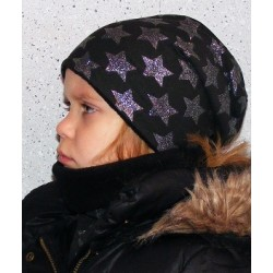Mütze Schal Set Glitzer Sterne