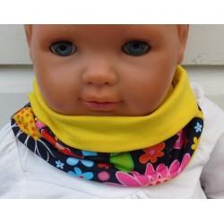 Mädchen Schal Bunt Blumen Halssocke aus Jersey zum Wenden genäht. Fürs ganze Jahr. Farbe, KU 39-55