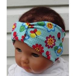 Haarband Baby Schleife Mädchen Jersey Sommer Bunt genäht. Süss für Kinder. Niedlich für Mädchen. KU 36-55 cm