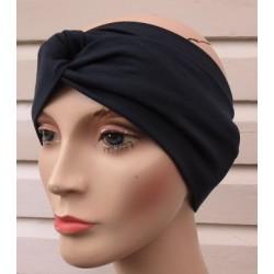 Turban Haarband Damen Sommer Blau aus Jersey genäht. Elegant und schön. Farben, KU 54-62 cm