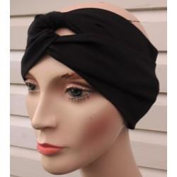 Turban Haarband Schwarz Damen Sommer aus Jersey genäht. Wunderbar. Farbe, KU 54-62 nach Wunsch.