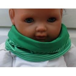 Loop Schal Kinder Jungen Jersey Streifen Grün zum Wenden genäht. Auch mit Fleece fürs ganze Jahr. KU 39-55