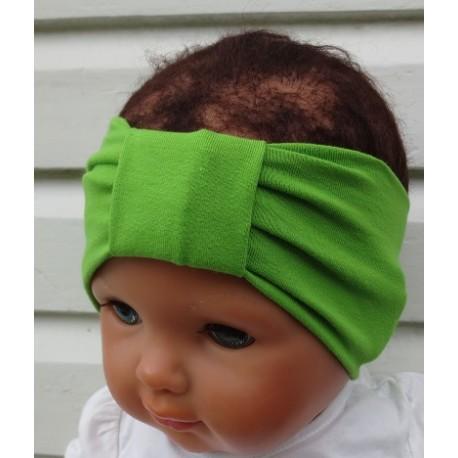 Stirnband Mädchen Grün Sommer mit Mittelteil aus Jersey genäht. Zum Wenden auch für den Partnerlook. KU 36-55