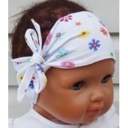 Stirnband Baby Blume Weiß