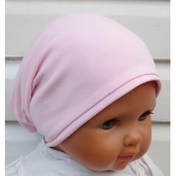 Beanie Mütze Mädchen Rosa Winter Sommer aus Jersey zum Wenden genäht. Auch mit Fleece. Farbe. KU 39-55