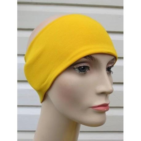 Haarband Damen Sommer Gelb aus Jersey zum Wenden genäht. Kids Partnerlook im Shop. Farbe, KU 54-62 cm