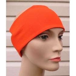 Haarband Frauen Sommer Orange aus Jersey zum Wenden genäht. Auch mit Mittelteil. Farbe, KU 54-62 cm