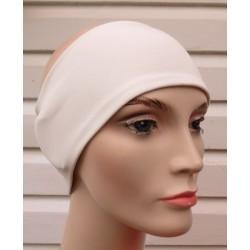 Haarband Sport Sommer für Damen Jersey Creme zum Wenden genäht. Auch mit Mittelteil. Farbe, KU 54-62 cm