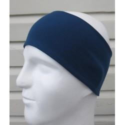 Stirnband Sport Männer Schweißband Jeansblau aus Jersey genäht. Kids Partnerlook im Shop. Farbe KU 54 - 65