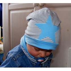 Mütze Schal Set Baby Stern