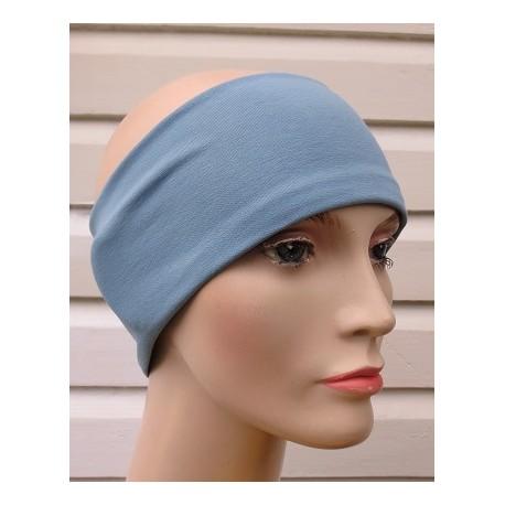 Haarband Sport Damen Sommer Jersey Blau zum Wenden genäht. Tolle Farbe. Farbe, KU 54-62 nach Wunsch.