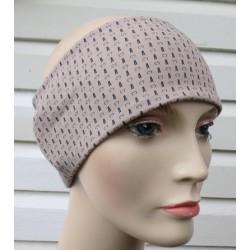 Stirnband Sommer Damen Sport Beige aus Jersey genäht. Partnerlook im Shop. Handmade. KU 54-62 cm nach Wunsch
