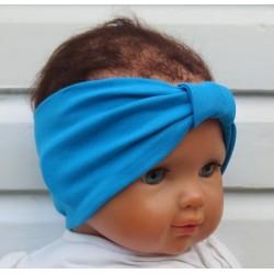 Stirnband Baby Kinder Mädchen Sommer Türkis aus Jersey genäht. Frauen Partnerlook im Shop. Farbe, KU 36-55 nach Wunsch.