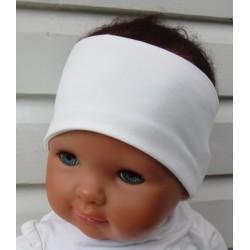 Haarband Baby Sommer Mädchen Kinder Creme aus Jersey genäht. Auch mit Knoten. Farbe, KU 36-55 nach Wunsch.