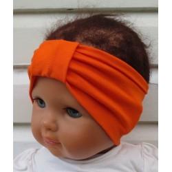 Stirnband Kinder Sommer für Mädchen Orange aus Jersey genäht. Partnerlook im Shop. Farbe, KU 36-55 nach Wunsch.