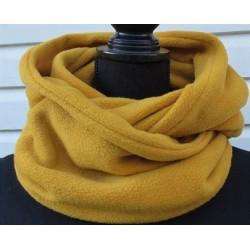 Schlauchschal Damen Fleece Senf Gelb modisch zum Wenden genäht. Auch zum Knoten. Farbe nach Wunsch.