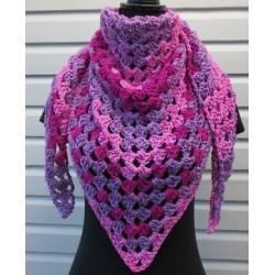 Häkeltuch Dreieckstuch wunderschön Pink Farbverlauf aus toller Wolle. Liebevolle Handarbeit. 9 Farben nach Wunsch.