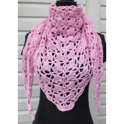 Häkeltuch Rosa Sommer aus Baumwolle Mix gehäkelt. Zauberhaft. Liebevolle Handarbeit. 18 Farben nach Wunsch.