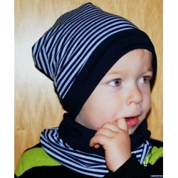 Mütze Schal Set Jungen Blau
