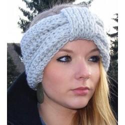 Stirnband Damen Winter Grau