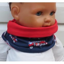 Schal für Kinder Jungen Jersey mit Autos zum Wenden genäht. Beanie im Shop. Auch mit Fleece. KU 39-55 nach Wunsch.