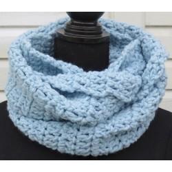 Schlauchschal Damen Wolle Loop Blau von Hand gehäkelt. So kuschelig warm. Handarbeit. Farbe nach Wunsch.