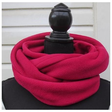 Schlauchschal Damen Winter Fleece Loop Magenta genäht. Gerne auch zum Knoten. Farbe nach Wunsch.