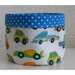 Utensilo Kinderzimmer Auto für Jungs zum Wenden genäht. Handarbeit. Durchmesser, Höhe 15 cm. Farben nach Wunsch.