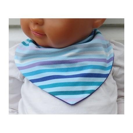 Halstuch Kinder Baby Mädchen aus Jersey Streifen Bunt genäht. Zum Wenden. Verschluß, Größe ca. 0-8 Jahre nach Wunsch.