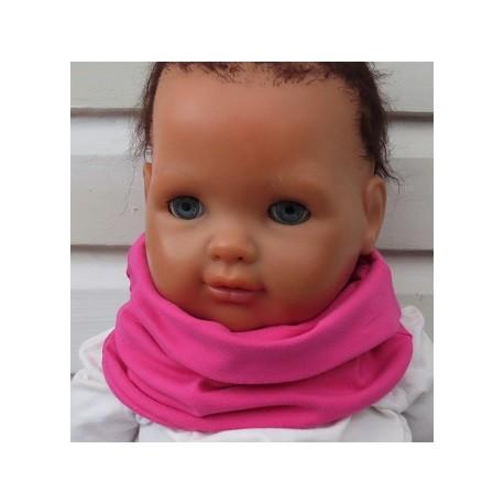 Halssocke Baby Kinder Schlupfschal Mädchen Pink aus Jersey genäht. Auch mit Fleece. Farbe, KU 39-55 nach Wunsch.