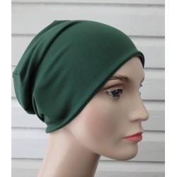 Beanie Mütze Damen Jersey Grün fürs ganze Jahr zum Wenden genäht. Auch mit Fleece. Farbe, KU 54-62 nach Wunsch.