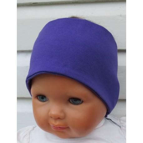 Haarband Sport Kinder Mädchen Lila aus Jersey genäht. Eine Long-Beanie im Shop. Farbe, KU 36-55 nach Wunsch.